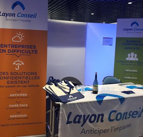 Stand Layon Conseil au Carrefour des Entrepreneurs de l'Anjou